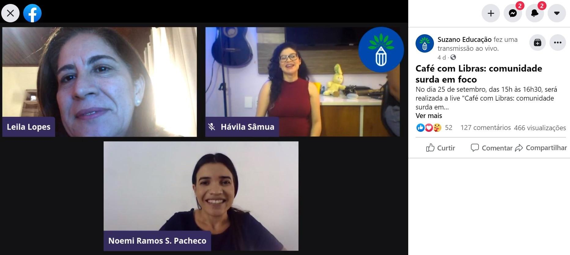 Programa Suzano de Educação realiza encontro virtual com a temática da inclusão da pessoa surda no ambiente escolar