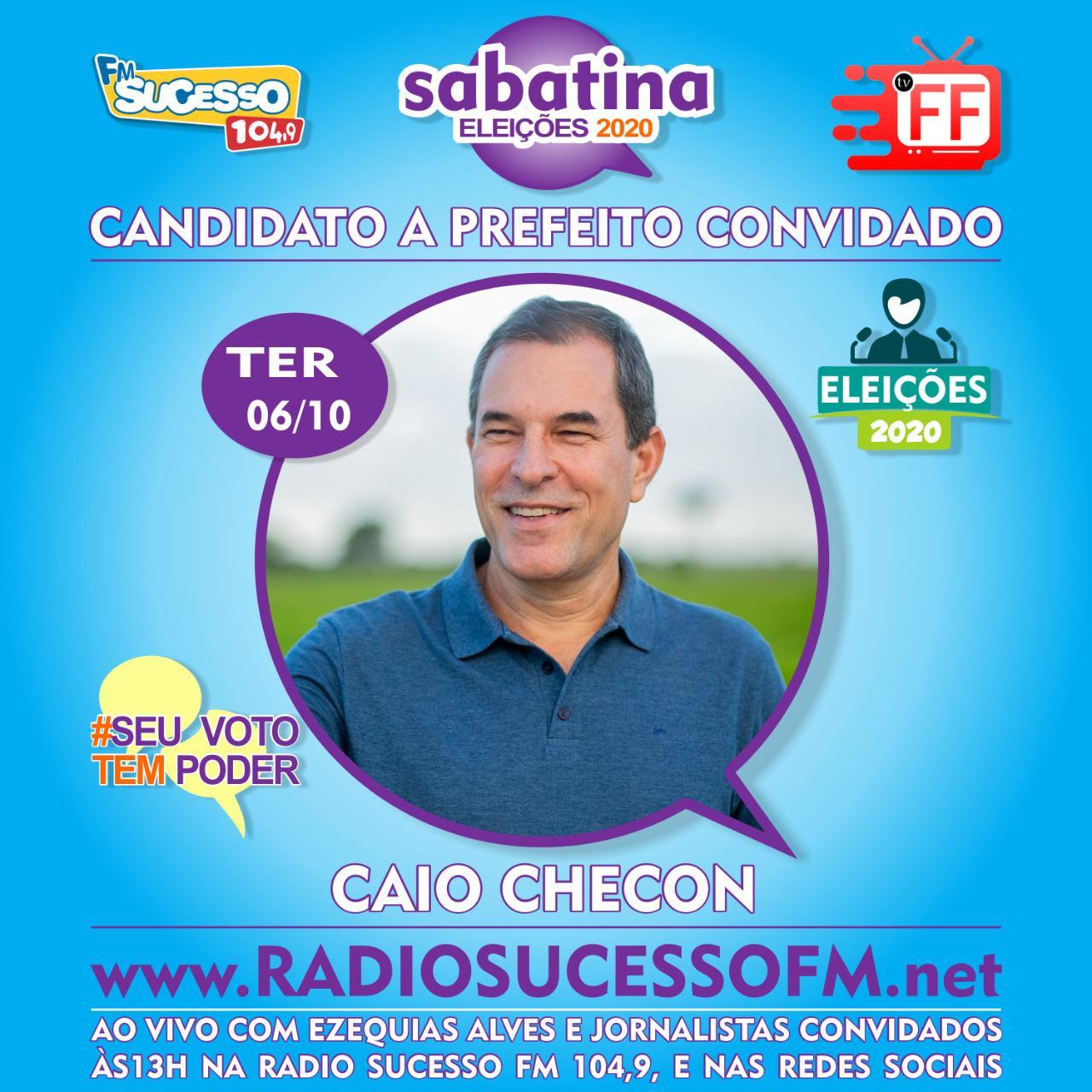 Rádio Sucesso 104,9 FM e TVFF realizaram a terceira sabatina dos candidatos a prefeito