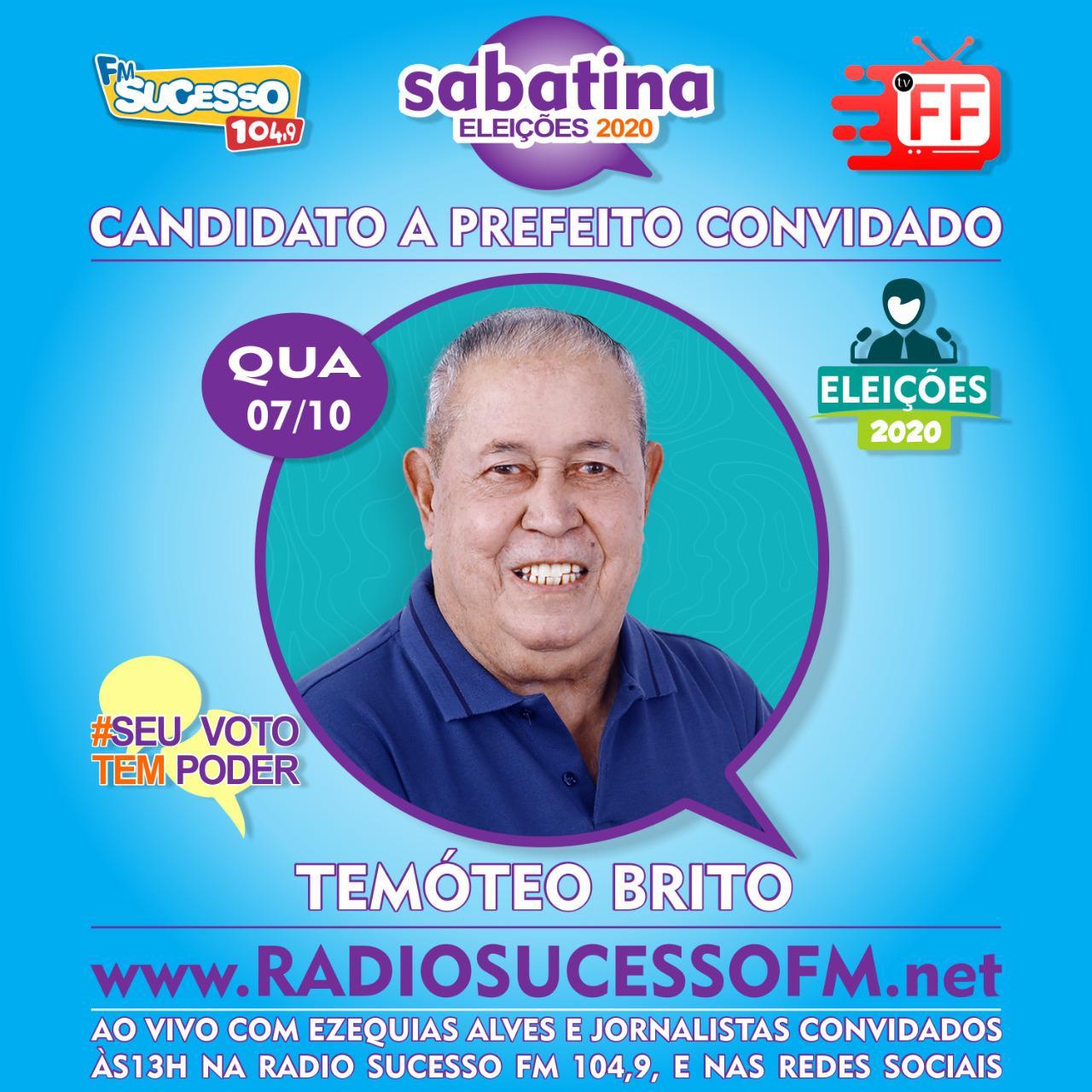 Terça de sabatina na Rádio Sucesso 104,9 FM e TVFF