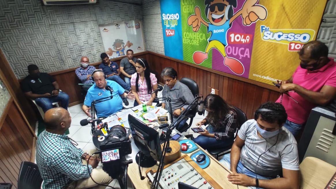 Quarta de Sabatina na Rádio Sucesso 104,9 FM e TVFF